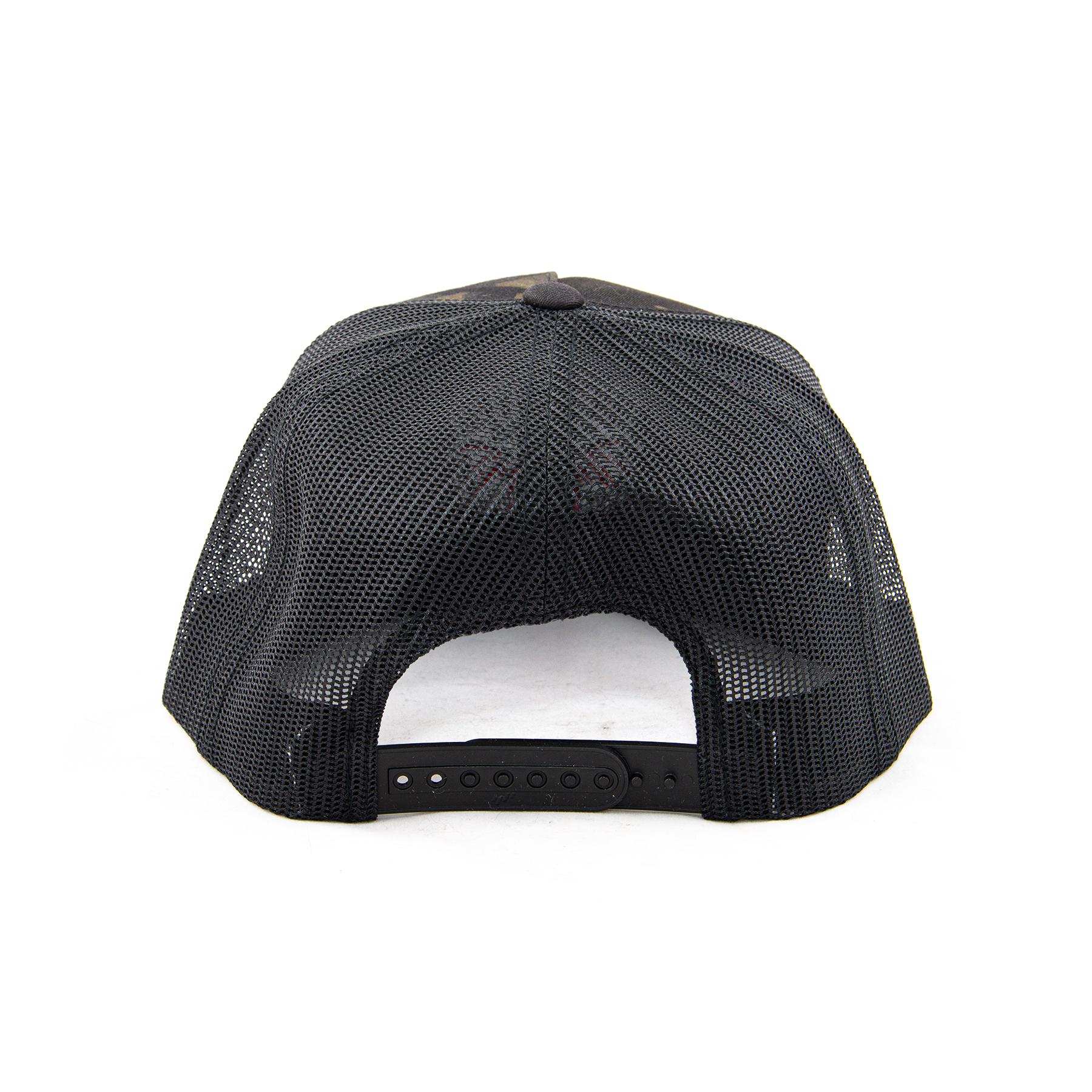 black multicam hat back