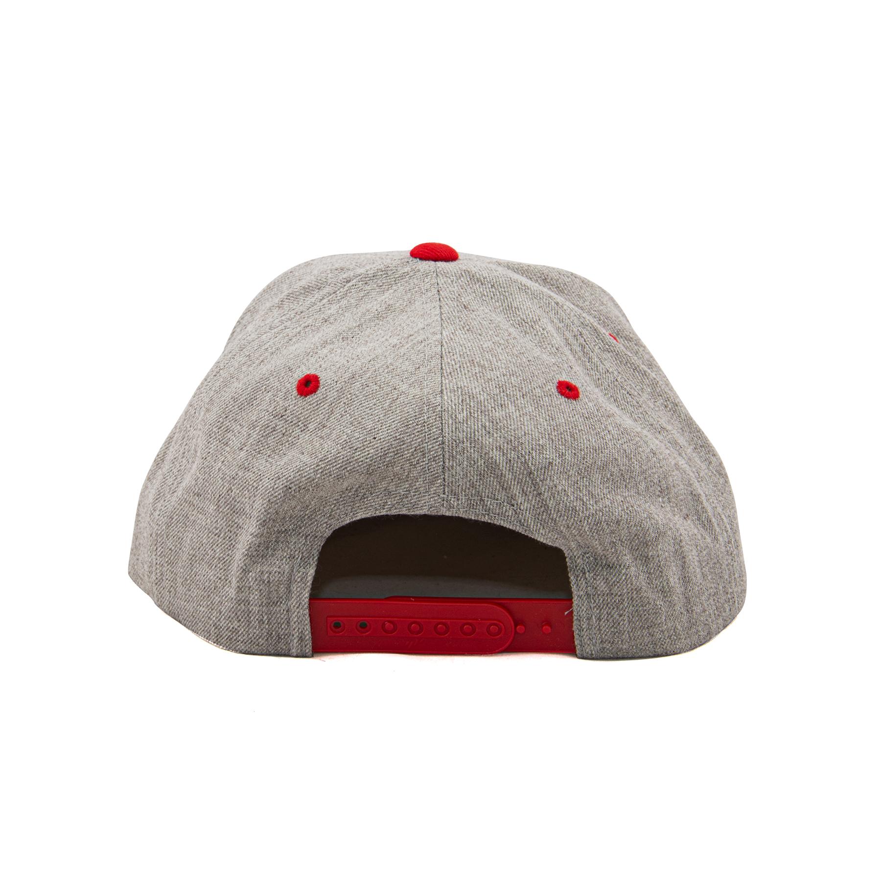 light gray snapback hat back