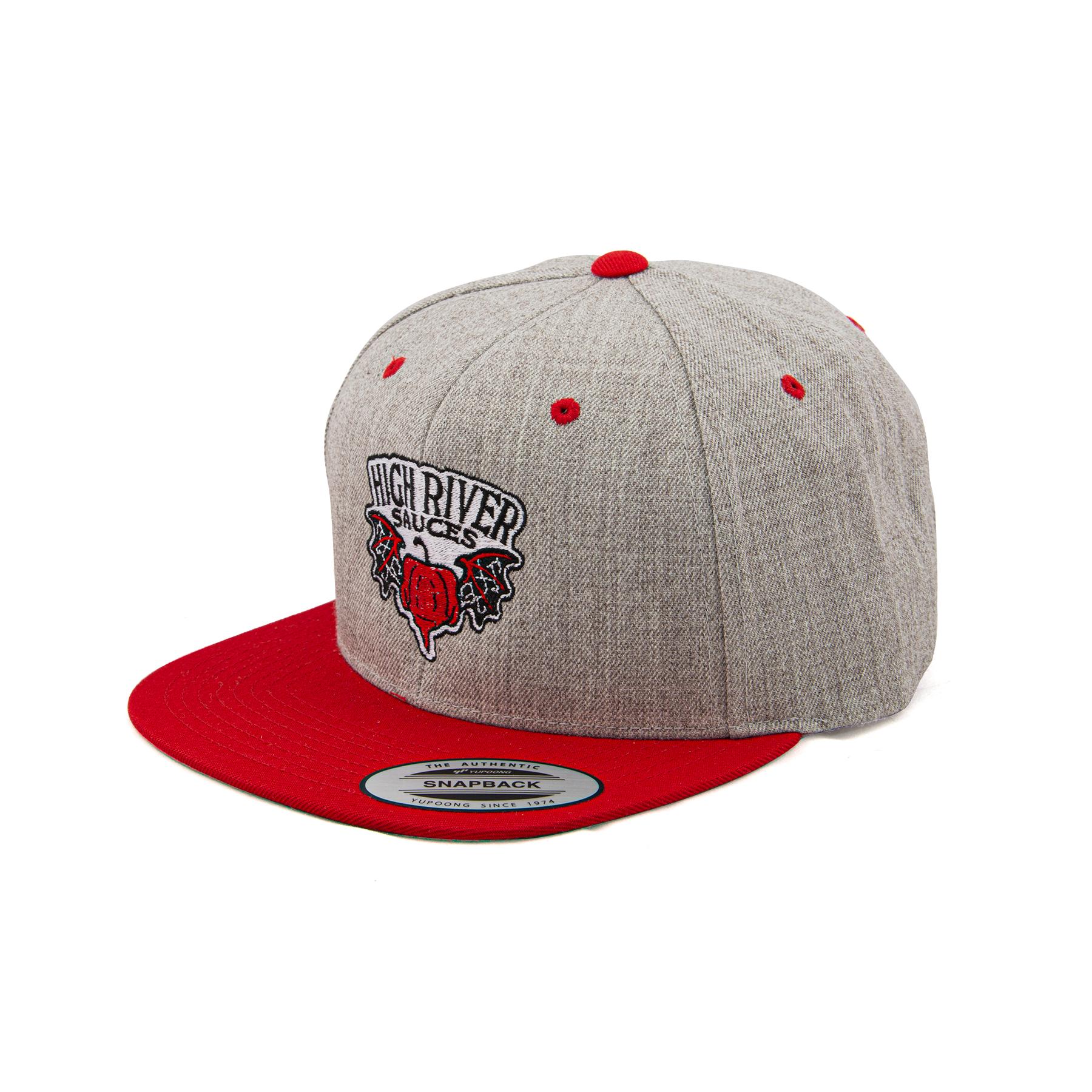 light gray snapback hat 3/4 view