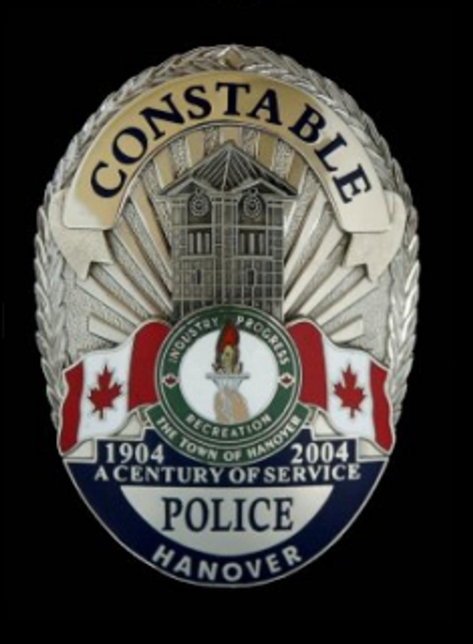 CONSTABLE Hanover Canada - Authentic Police Badge