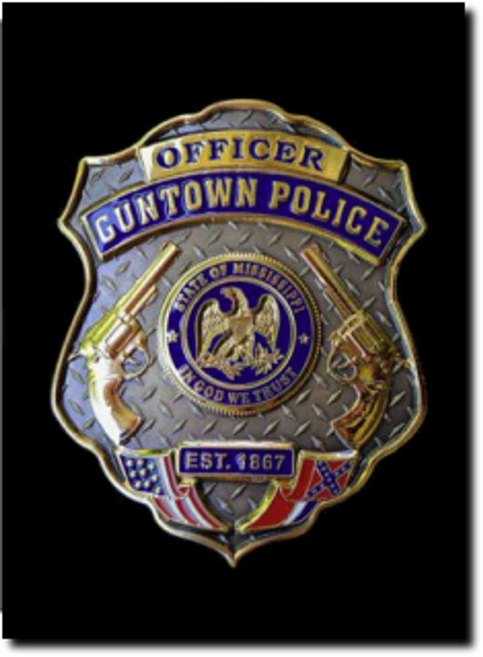 OFFICER Guntown - Authentic Police Badge