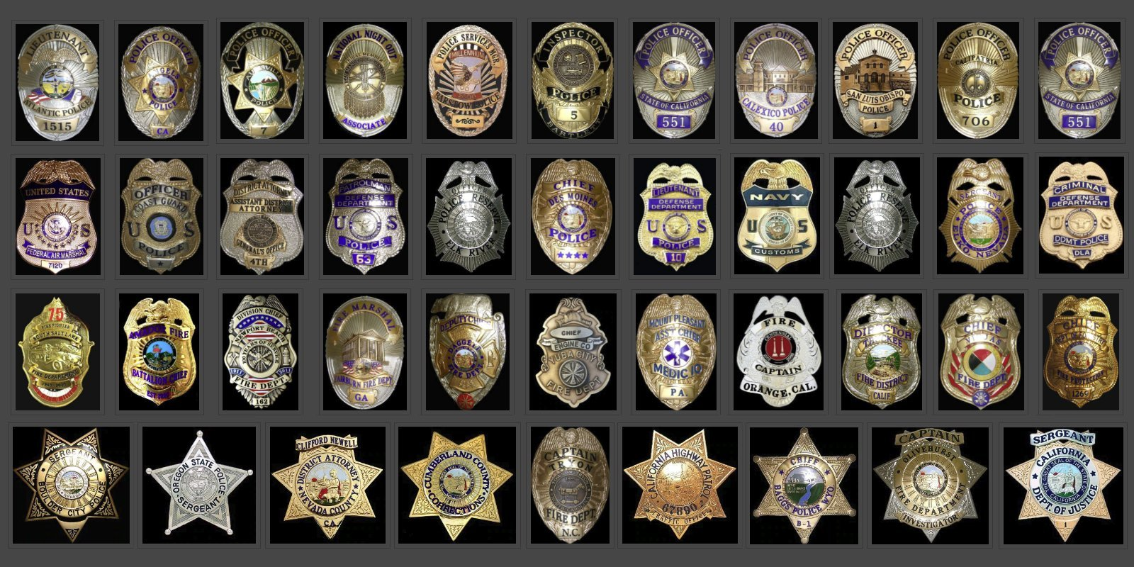 Police Badges by Lawman Badge Company