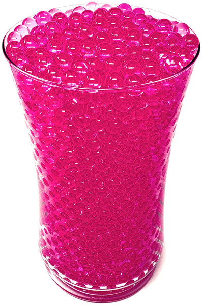 Pink Water Beads in Vase