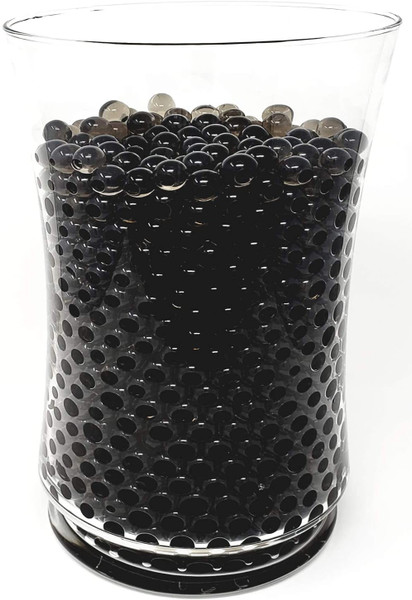 Black Water Beads in Vase