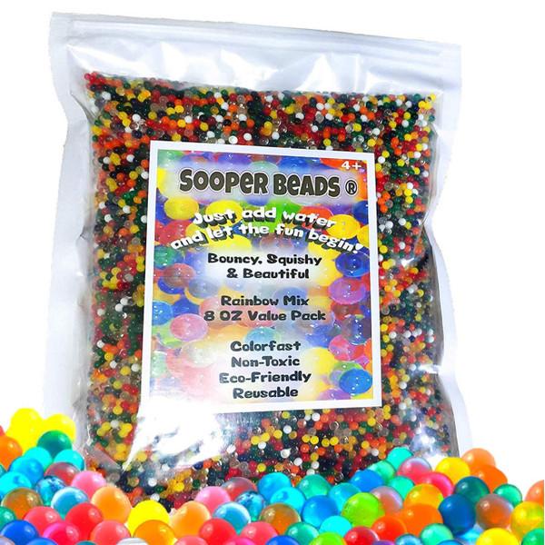 water beads rainbow mix