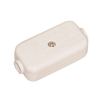 White 2 Way 5 A In-line Junction. Bulk Electrovision E301EA
