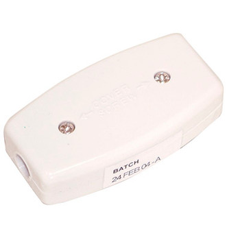 White 3 Way 5 A In-line Junction. Bulk Electrovision E301EB