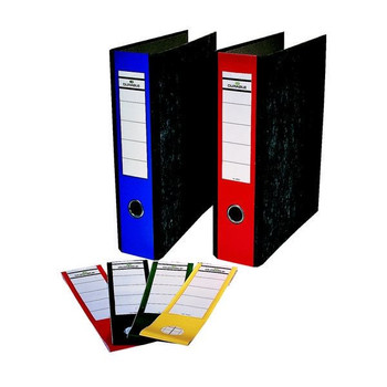Durable Ordofix Lever Arch File Spine Labels Assorted (Pack of 10) 8090/00