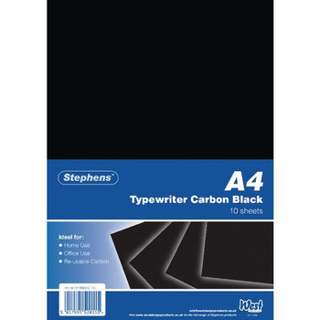 Stephens Black Typewriter Carbon Paper A4 (confezione da 100) RS520153