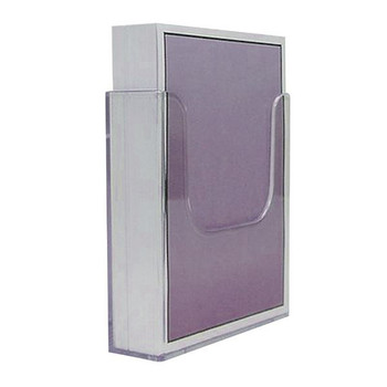 Deflecto Clear Flat Back Letteratura Holder DE76301
