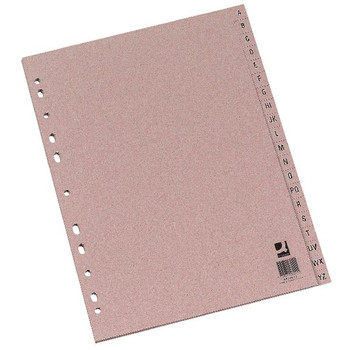 Q-Connect Buff A4 Index Multi-Punched AZ 20-Part Manilla KF26011