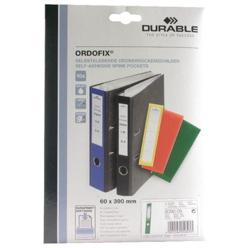 Durable Green Ordofix File Spine Label (Pack of 10) 8090/05