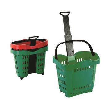 Giant Shopping Basket / Trolley Green SBY20755.