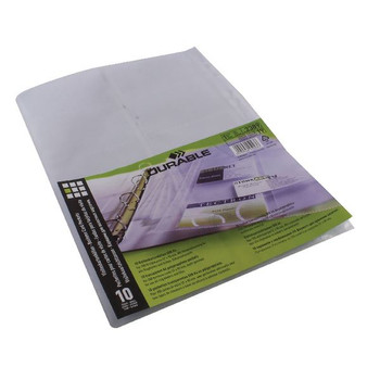 Durable A4 Visifix Business Card Pockets Refill (Pack of 10) 2389
