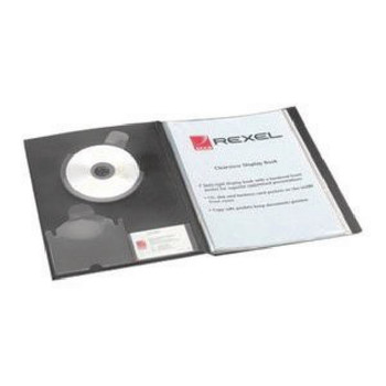 Rexel Clearview A4 Display Book Nero 24 Pocket 10320BK