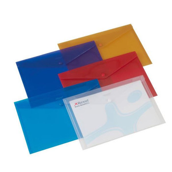 Rexel Carry A4 Folder Translucent Assorted (Pacchetto di 6) 16129AS