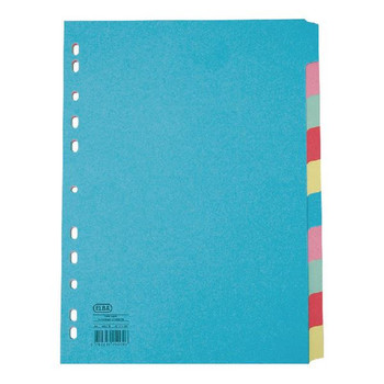 Elba A4 Extra Wide 10 Part Assorted Card Divider 100080807