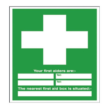 Safety Sign First Aid 600x450mm PVC E91A / R