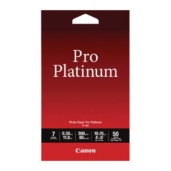 Canon Pro Platinum Photo Paper 4x6 Pk 50