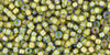 Toho Bead 11/0 Round #164 In-Black Diamond/Opaque Yellow Lined 50gm
