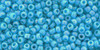 Toho Seed Beads  11/0 Rounds #170 Opaque-Rainbow Blue Turquoise 50g