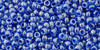 Toho seed beads 11/0 Rounds #200 Light Sapphire, Opaque Dark Blue Lined 20 Grams