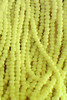 9/0 Czech Glass Seed Beads Opaque Yellow 1 Hank