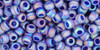 Toho Seed Bead 8/0 Rounds #48 Transparent-Rainbow-Frosted Cobalt 20g