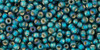 Toho Seed Beads 11/0 Rounds Silver-Lined Frosted Rainbow Teal