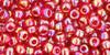 TOHO Seed Beads 8/0 Rounds Transparent Rainbow Ruby 8 gr tube