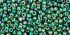 Toho Seed Bead 11/0 Round #305 Transparent Rainbow Green Emerald 50gm
