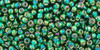 Toho Seed Beads 11/0 Rounds #343 Silver Lined Rainbow Green Emerald 50gm