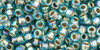 Toho Seed Beads 8/0 Rounds Gold-Lined Rainbow Aqua