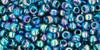 Toho Seed Beads 8/0 Round #124 Transparent Rainbow Teal 50 gram
