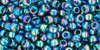 Toho Seed Beads 8/0 Round #124 Transparent Rainbow Teal 20 gram