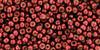 Toho Beads 8/0 Round Permanent Finish Galvanized Brick Red 8 gram