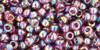 Toho Seed Beads 8/0 Round Transparent Rainbow Medium Amethyst 8g
