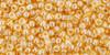 Toho Seed Bead 11/0 Round #409 Transparent Lustered Light Topaz 50 gram