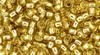 Toho Beads 8/0 Round Permanent Finish Silver Lined Light Topaz 8 gram