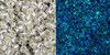 Toho Seed Bead 11/0 Round #415 Silver Lined Crystal Glow Blue 20 gram