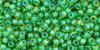 Toho Bulk Beads 11/0 Round #417 Lime Green Opaque Green Lined 250 g