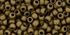 Toho Seed Beads 8/0 Round #199 Frosted Antique Bronze 20 gram pack