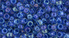 Toho Seed Beads 8/0 Rounds #201 In- Luster Crystal Caribbean Blue 20g