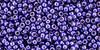 Toho seed Beads 11/0 Round #423 Perm Fin Galvanized Violet 20 grams