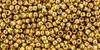 Toho Beads 11/0 Round #424 Permanent Finish Galvanized Old Gold 50 gram