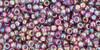 Toho Seed Beads 11/0 Rounds Transparent-Rainbow Medium Amethyst