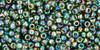 Toho Seed Beads 11/0 Rounds Transparent-Rainbow Olivine