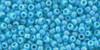 Toho Seed Beads 11/0 Rounds Opaque-Rainbow Blue Turquoise