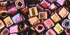 Toho Seed Beads Cubes 4mm Higher-Metallic Amethyst