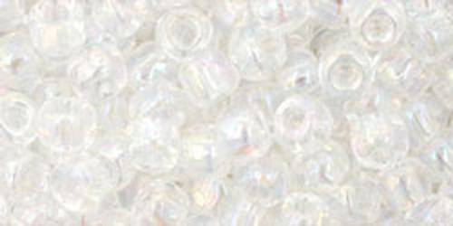 TOHO Seed Beads 6/0 Rounds Transparent Rainbow Crystal